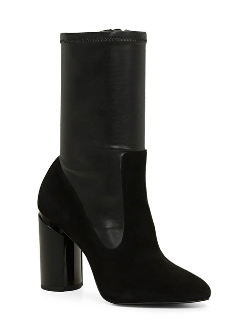 Aldo Kalın Topuklu Uzun Bot Siyah